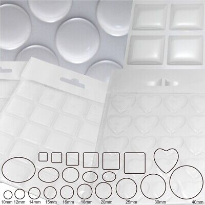 Clear Epoxy Resin Dome 3D Gel Stickers Silicone Round Circle Square Oval (Square Oval)