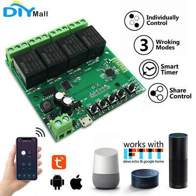 4 Channel Tuya Wifi Relay Module Momentary Switch Inchingselflockinginterlock