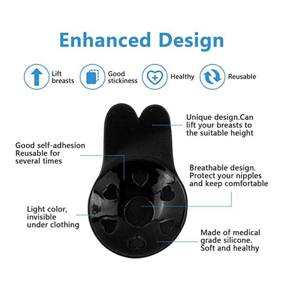 Silicone Auto Adhésif Stick Push Up Gel Sans bretelles invisible soutien-gorge dos-nu B