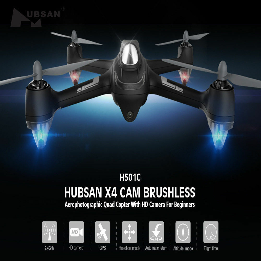 Hubsan X4 H501C Drone 5.8G Brushless RC Quadcopter W/ 1080P HD Camera GPS RTF US
