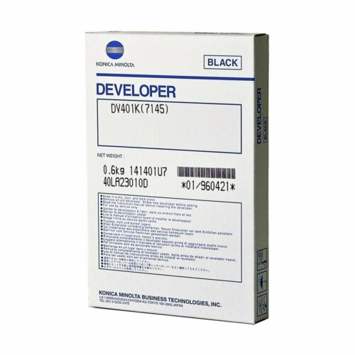 Genuine OEM Konica 960421 Black Developer for 7145 DV401K (240,000 Yield)