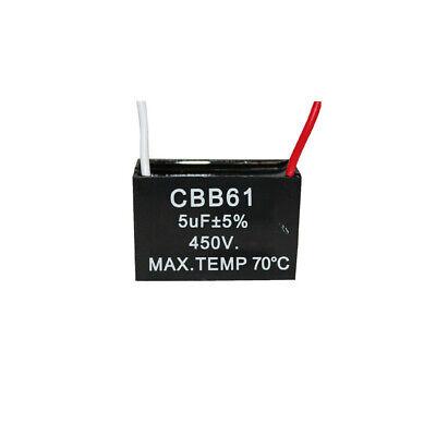 450v 5uf Cbb61 Ceiling Fan Motor Running Capacitor 2 Wire 5060 Hz