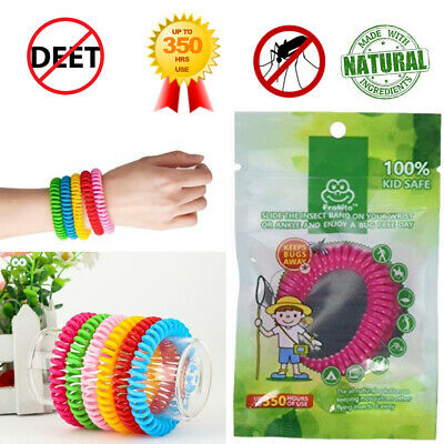 Deet Free Waterproof Insect Repellent - Adults Kids Mosquito Bug Insect Repellent Wristband Safe Waterproof Deet-Free