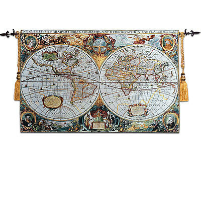 Map Art Tapestry Wall Hanging