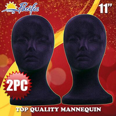 11 Styrofoam Foam Black Mannequin Manikin Head Display Wig Hat Glasses