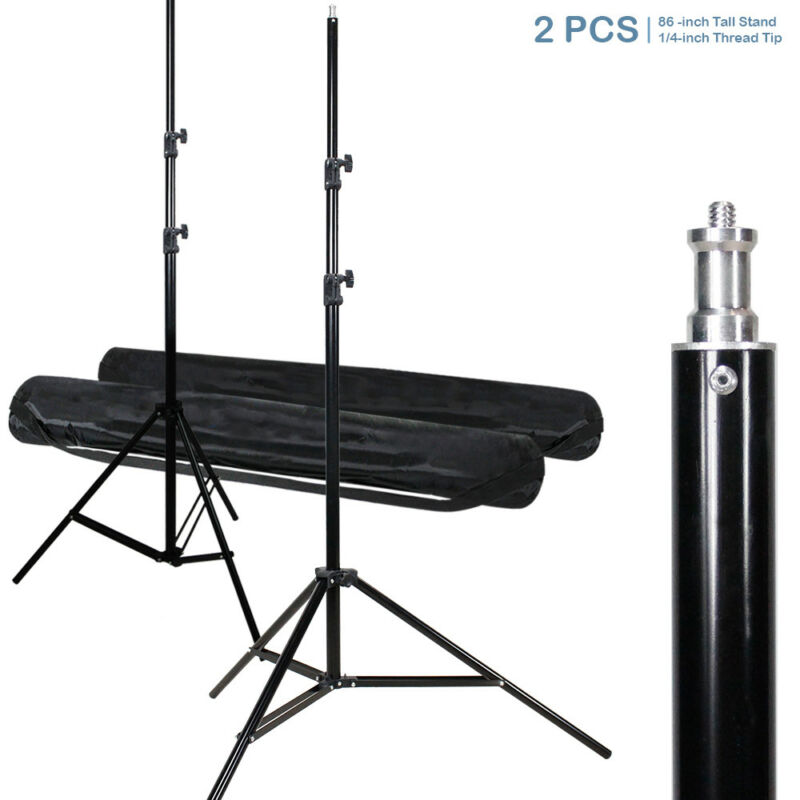 "|2-Pack|Tripod Photo Video Studio 86"" Tall Photography Light Stand w/ Carry Bag"