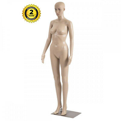 Female Full Body Mannequin Plastic Realistic Display Head Turn Dress Form Wbase