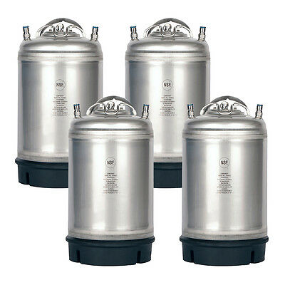 4 Pack New 3 Gallon Ball Lock Kegs - Homebrew Beer Cold Brew - Free Shipping