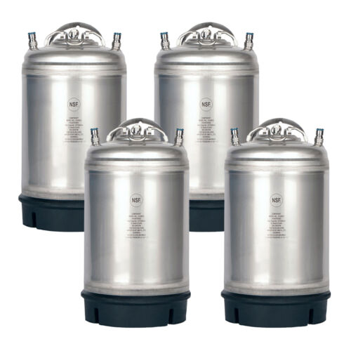 4 Pack New 3 Gallon Ball Lock Kegs - Homebrew Beer & Cold Brew - Free Shipping!