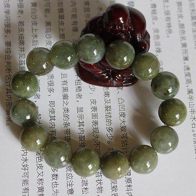 Genuine 100% Natural (Grade A) Untreated Oily Green Jadeite JADE Beads Bracelet