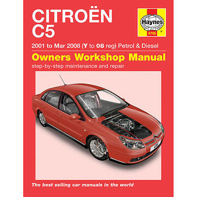 Citroen C5 1.8 2.0 Petrol 1.6 2.0 Turbo Diesel 01-08 (Y to 08) Haynes Manual