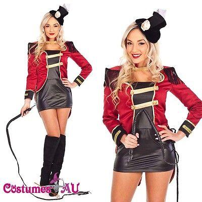 Ladies Ringmaster Circus Lion Tamer Magician Costume Showgirl Fancy - Lady Magician Costume