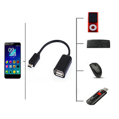 """USB Host OTG Adapter Cable For Samsung Galaxy Tab A 8"""" SM-T350 SM-T355 Tablet"""