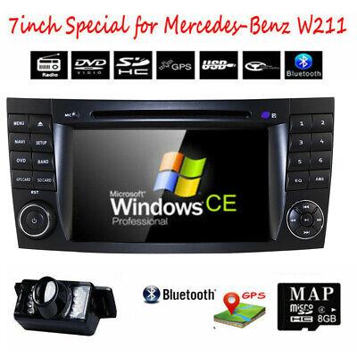 """7"""" Autoradio DVD GPS Für Mercedes Benz E Klasse W211 W219 Navi Radio DAB+ Kamera"""