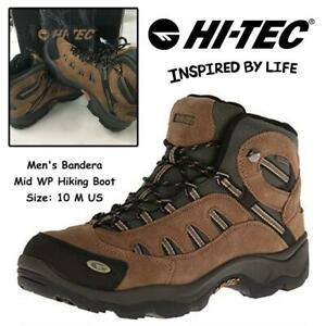 Hi-Tec Mens Bandera Mid WP Hiking Boot Condtion: Lightly used, 10 M US, Bone/Brown/Mustard