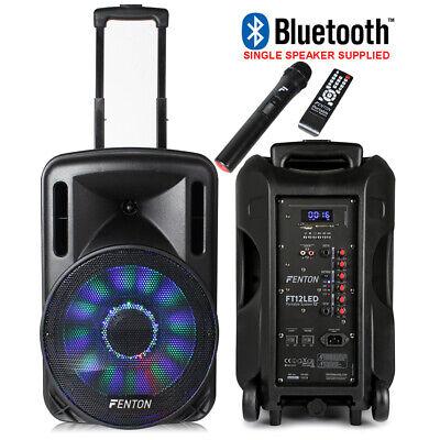"B-Stock Portable Music System DJ Speaker 12"" 700w Bluetooth Lights & Wireless"