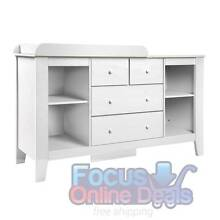 Drawer Baby Chest Change Table Dresser Cabinet White North Melbourne Melbourne City Preview