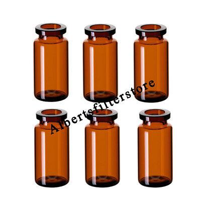 100pcspk High Quality 10ml Amber Vial 20mm Crimp Topbevelledfor Lab Analysis
