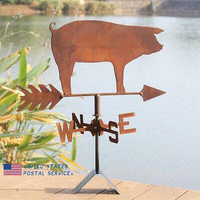 Weather Vane Roof Mounting Pig Handmade Crafts Outdoors Windvane Ornaments US