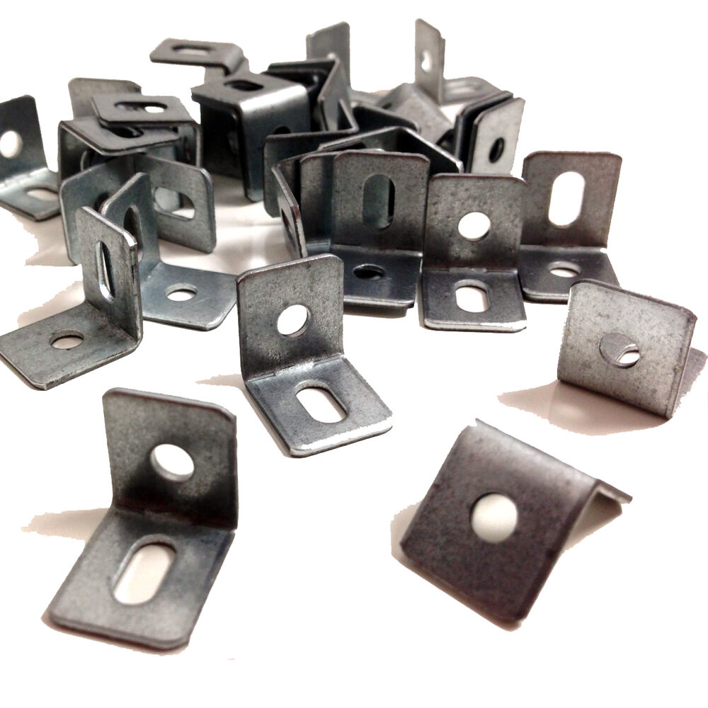 15mm x 15mm ANGLE BRACKET WITH VERTICAL SLOT KITCHEN CABINETS BZP HAFELE