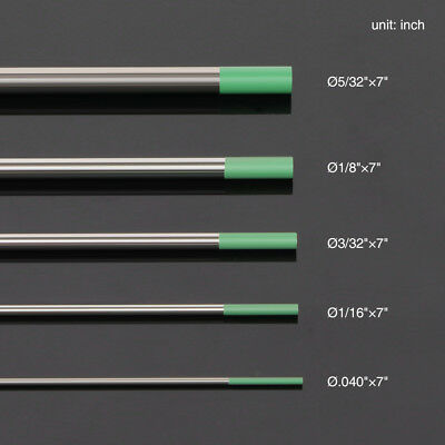 10-pk Tig Welding Tungsten Electrode Puregreen Wp .040-532 By 7 Length