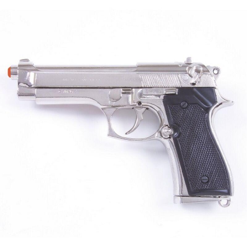 Denix M92 Berretta 9mm Military Model Replica Pistol - Nickel