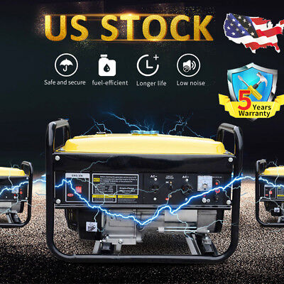 Portable Gas Generator 4000w 4 Stroke 208cc Home Back Up Power Epa Camping T8