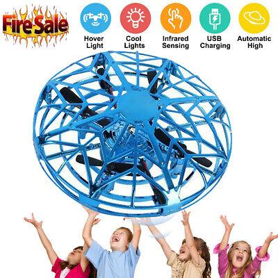Mini Drone Quad Induction Levitation UFO LED Light USB Charging Kids Gift Toy NS
