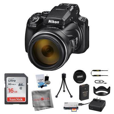 Nikon COOLPIX P1000 Digital Camera 26522 with SanDisk 16GB Table Tripod Bundle  Nikon COOLPIX P1000 Coupons, Savings and Deals   1