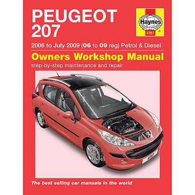 Peugeot 207 1.4 1.6 Petrol Diesel 2006-09 (06-09 Reg) Haynes Manual