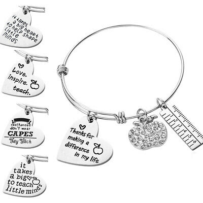 Expandable Wire Bangle Bracelet Gifts for Teachers Thank You Cuff Bangle Steel - Bracelets For Teachers