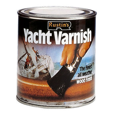 RUSTINS 1L YACHT VARNISH GLOSS FOR WOOD TIMBER DOOR WINDOW FRAME CLADDING 1LTR