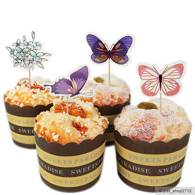terfly Topper Cupcake Kinder Geburtstag Muffin Kuchen (Schmetterling Kuchen Topper)
