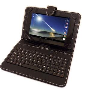 Amazon Kindle Fire HDX / HD  PU LEATHER CASE BUILT IN KEYBOARD micro USB