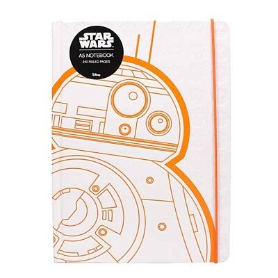 Genuine Star Wars BB-8 A5 Hardback Journal Notebook Paper Note Pad Droid BB8
