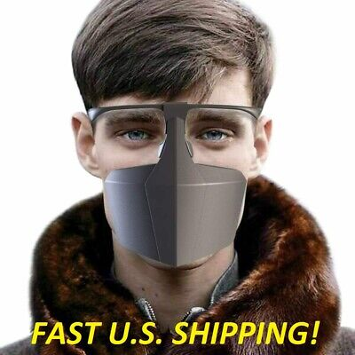 Reusable Face Shield Washable Mask Safety Protection Anti Saliva Mouth Cover Usa