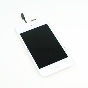 White iPod Touch 4th Gen 4G LCD Screen Glass Digitizer w/ Home Button