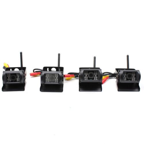 4pc Kabellose Rückfahrkamera Funk 120° Monitor Drahtlos Set+7 \