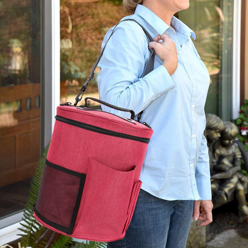 2 Stück Stricktasche Stricken Häkeln Aufbewahrung Tasche für Wolle Garn Fäden