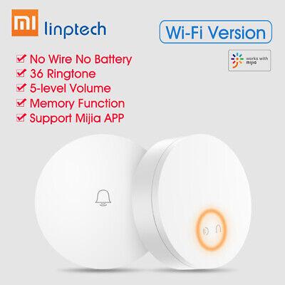 Xiaomi Mijia Linptech Self Powered Wireless Doorbell Self-generating Electricity