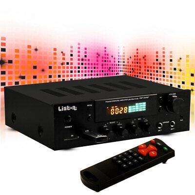 Hifi Eventos Amplificador Bluetooth MP3 Receptor Karaoke USB SD Liston 5000BT