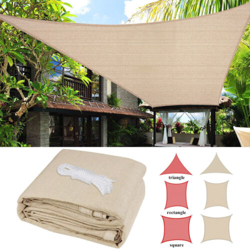 Sun Shade Sail UV Block Canopy Patio Lawn Pool Awning Top Co