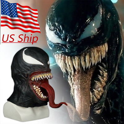 The Venom Mask Cosplay Edward Brock Superhero Spiderman Venom Latex Masks Helmet - Spiderman Masks
