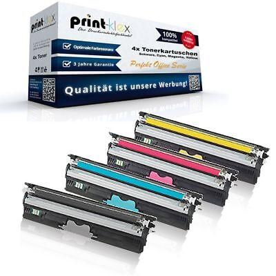 1690mf Drucker (4x Ultra XL Toner für Konica Minolta Magicolor-1690-mf Dr - Perfekt Office Serie)