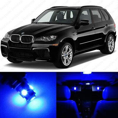 22 x Error Free Blue LED Interior Light Package For 2007 - 2013 BMW X5 + TOOL