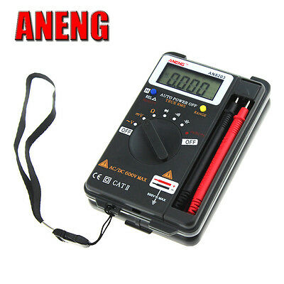 Aneng Mini Auto Range Acdc Pocket Lcd Digital Multimeter Voltmeter Tester Tool