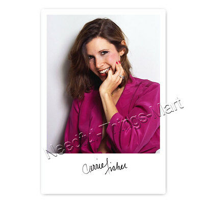 Carrie Fisher (†) Leia Organa - Autogrammfotokarte ca. 10x15cm laminiert [AK2]