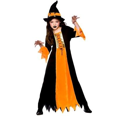 Scary Halloween Costumes For Girls Age 10 (Child CAULDRON WITCH Scary Halloween Girls Fancy Dress Outfit Costume Age)