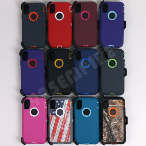 for iPhone XR/XS/11/11 Pro MAX Defender Case (Clip fits Otterbox)
