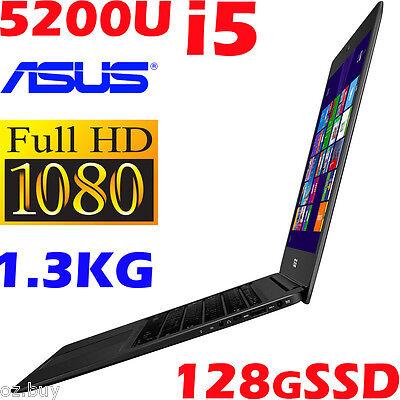 """ASUS Zenbook UX305LA 13.3"""" FHD Core i5-5200U 4GB 128GB-SSD Ultrabook 12hr Battry"""